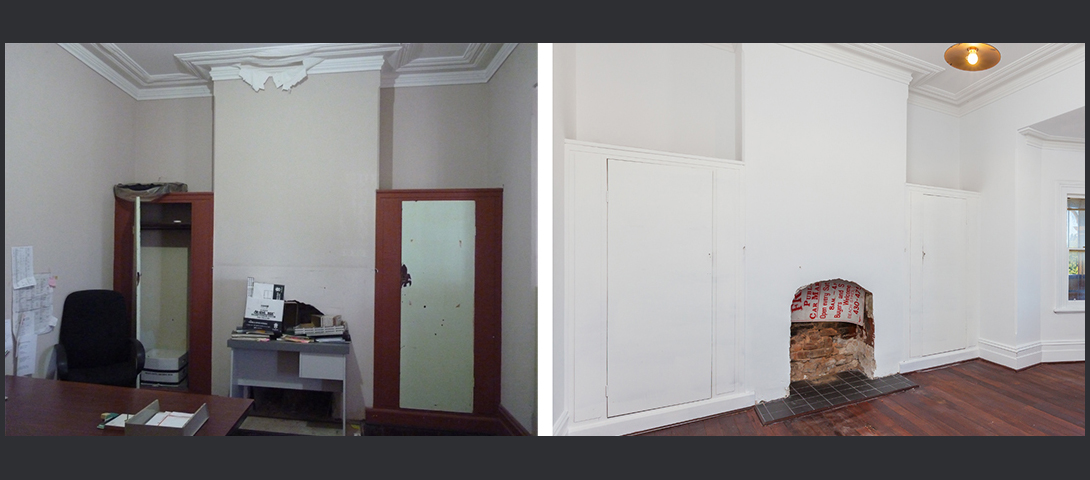 Room 1 before and after