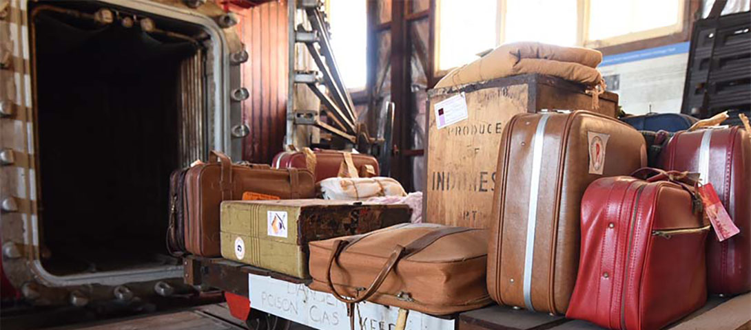 Fumigator restoration and luggage display