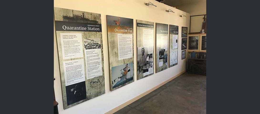 Interpretation display - main office