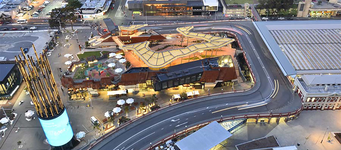 Aerial view of Yagan Square