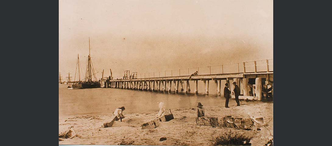 Earliest known photo of the jetty